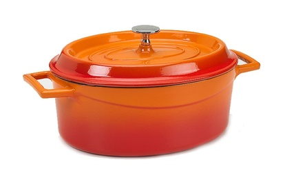 SLOWCOOK Oval gryta Orange gjutjärn